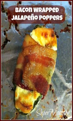 "Bacon Wrapped Jalapeno Poppers - These are the perfect party appetizer food for ""guys"" and for some of us gals that are not afraid to eat a bit of yummy, greasy food every now and again."