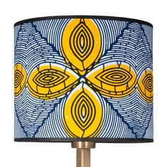 Mazabuka Lamp Shade - 3rd Culture lamp shades are hand made in Istanbul using West and Central African fabrics. Size: 25 x 25 x 20