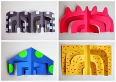 Easy kids art project- how to cut Calder-inspired sculptures