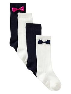 Bow knee-high socks | Gap. I need to get these for Lily!