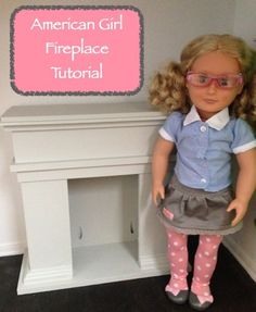 How to make an American Girl Fireplace! It is super easy and a lot of fun! My kids always love getting involved in my projects. How to make an American Girl Fireplace! It is super easy and a lot of fun! My kids always love getting involved in my projects. American Girl Outfits, American Girl Crafts, American Girls, Girl Doll Clothes, Doll Clothes Patterns, Girl Dolls, Ag Dolls, Barbie Clothes, Doll Patterns