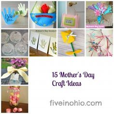 15 Great Mother's Day Craft Ideas