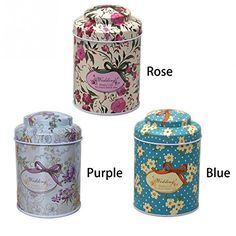 Kitchen Tea Sugar Coffee Storage Tin Box Portable 7555cm Butterfly Knot  Line Drawing Style Pier 27 ** Click on the image for additional details.