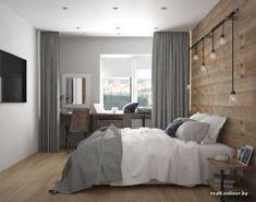 Bedroom attic lighting 46 Ideas - Thea S. Home Decor Bedroom, Modern Bedroom, Bedroom Wall, Bedroom Ideas, Suites, House Rooms, Home Interior Design, Living Room Designs, Wood Walls