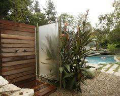 outdoor shower #pool