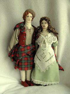 Jamie and Claire Fraser Handmade Dolls on eBay