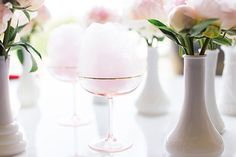Cotton Candy Champagne Cocktails {heaven in a glass}