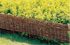 Willow edging for garden borders