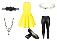 """""""Veronica Cipher Outfit #1"""" by double-t-383 ❤ liked on Polyvore featuring AQ/AQ, Studio, Cult Gaia, Bebe and Ettika"""