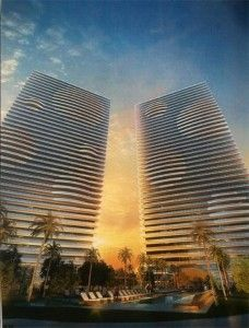[Via exMiami] Guess what King Jorge is doing with this site? Jorge Perez's Related Group is embarking on a massive new 700 unit, 55 story, two tower condo colony in Edgewater, called 'Element'. Interesting Buildings, High Rise Building, Ares, Building Facade, Architect House, Coral Gables, Condominium, South Florida, Tower