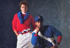 Apple's 1986 Clothing Line: Apple products today meticulously layer parts of a laptop together for a seamless look — their fashion line called for layering three sweaters at a time. Not so seamless though.