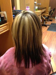 Thick highlights and lowlights with dark underneath