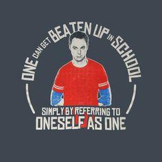 Camiseta The Big Bang Theory. Sheldon, escuela