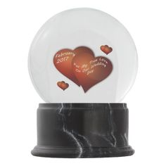 On This Special Day. Our Wedding Day February 2017 Snow Globes