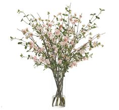 Cherry Blossom, Pink, Glass Cylinder, 36wx36dx42h KF324