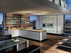 Glass Kitchen in Alaska White - Intuo - Luxury Kitchens Maidenhead.