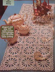 Easy Table crochet Runner pattern    Wagon Wheels Motif Table Runner Crochet Pattern   eBay