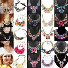 Charm Fashion Jewelry Choker Chunky Statement Bib Collar Necklace Pendant Chain    eBay
