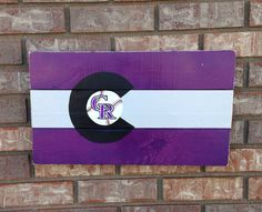 Colorado Rockies Colorado Flag wall art, Reclaimed, Recycled, wood sign, hand made, hand painted on Etsy, $43.00
