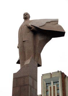 Statue of Vladimir Lenin in Tiraspol, Transnistria.