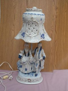 Antique Porcelain Table Lamp Blue U0026 White In   My Thrift Shop West .