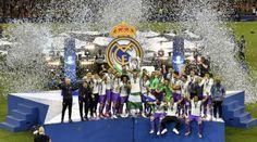 Real Madrid celebra su corona.   AFP