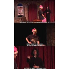 Snape, 'Mama' Umbridge and Headmaster Zefron. AVPS <3