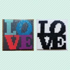 DIY Perler / Fuse bead idea #perlerbeads #perlerbeadart #fusebeads #fusebeadart #love #loveart #diy #diyproject #diycrafts #crafts