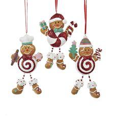 """4.5""""RESIN GINGERBREAD LOLLIPOP ORNAMENTS #gingerbreadornaments"""