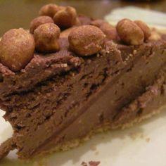 Chocolatey-Peanut Pie  vegan, plantbased, earth balance, made just right
