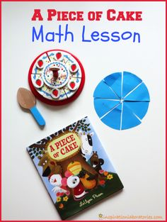 A Piece of Cake Math Lesson {and free printable} A fun way to teach subtraction AND fractions!