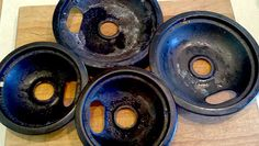 How to clean those nasty drip pans