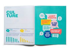 Graphic Design - Graphisms , Typography , Infographics and Design - LGBT Youth Report - Matt Chase Graphisches Design, Buch Design, Cover Design, Layout Design, Creative Design, Email Design, Print Design, Design Editorial, Editorial Layout