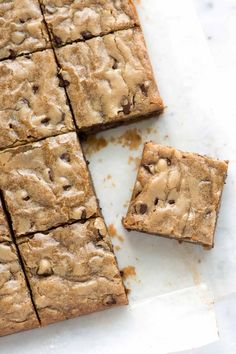 One Bowl Easy Blondies Recipe-doubled and turned out good, very rich, K liked, nice with nila scream. Added about 1.3 cups mixed chocolate/white chips