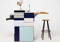 The Compact Gali Kitchen is a micro-kitchen designed by Ana Arana. http://vurni.com/compact-gali-kitchen/