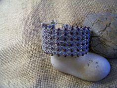 micro macrame bracelet with beads by MacramebyAthena on Etsy