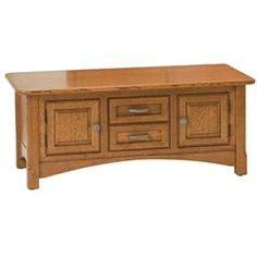 """Crystal Valley Hardwoods West Lake Cabinet Coffee Table White Oak 22""""x42""""x17.5"""" $899.00"""