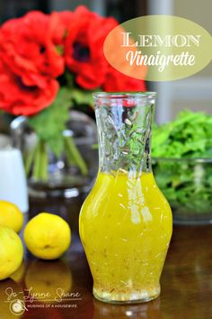 Easy and delicious lemon vinaigrette recipe... perfect for dressing those summer #CSA greens!