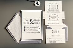 Modern Silver and Gold Wedding Stationery | photography by http://twobirdstudio.com