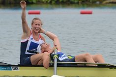 Helen Glover and Heather Stanning ended Britain's gold medal drought by cruising to victory Wednesday in the women's pair rowing event. http://ti.me/Mk3dXK