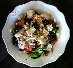 Summer Berry Chicken Salad - great for 4th of July, Memorial Day or Labor Day!