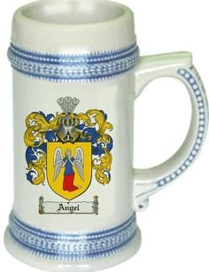 Angel Coat of Arms / Family Crest tankard stein mug