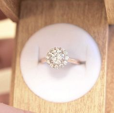 Lovely pave engagement ring//