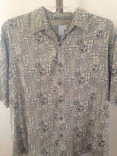 Men's Half Moon Bay Short Sleeve Button Front Shirt XL #HalfMoonBay #ButtonFront