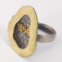 Ring, 18k Gold and Sterling Silver - Harold O'Connor