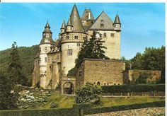 Burresheim Castle, located Northwest of the town Mayen, Germany