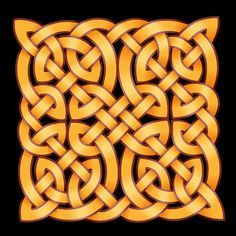 Celtic knot-work - black and gold