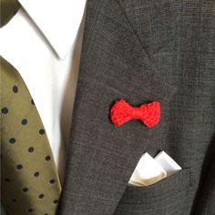 Men's Lapel Pin, CROCHET BOW TIE, Lovely Handmade Cotton Boutonniere, Weddings #Handmade #LapelPin