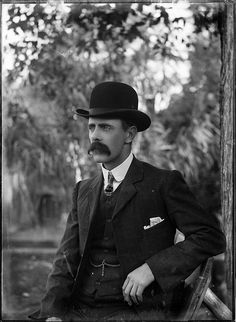 Portrait of a man in a bowler hat   (by Powerhouse Museum Collection, via Flickr)