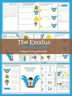 Baby Moses PreK Pack 18 Pages Of Free Printable Preschool